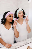 Facial Brush & Headband Set in Blue