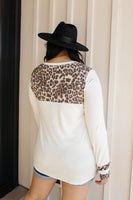 Hint Of Print Long Sleeve Top