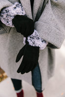Fur Cuff Tech Savvy Gloves
