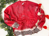 The leopard Dip Sweater RED {pre-order}