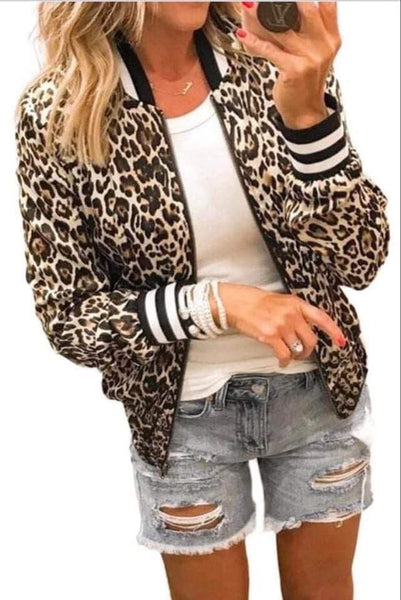 The Striped leopard coat {Pre-order}