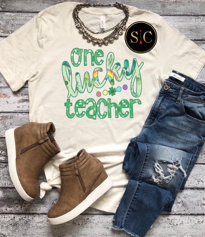 One Lucky Teacher Tee {Pre-order}