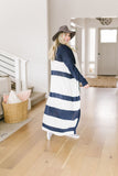 Long & Lean Striped Cardigan