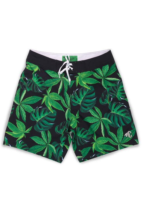 Tropical Print Board Shorts