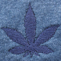 Weed Leaf Embroidered T-Shirt
