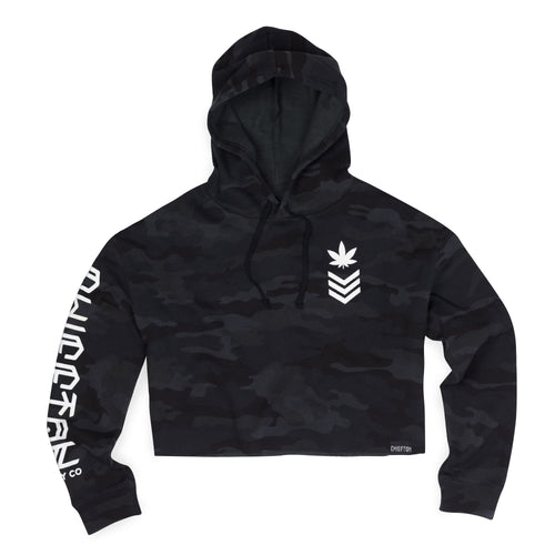 Fire Team Crop Top Hoodie