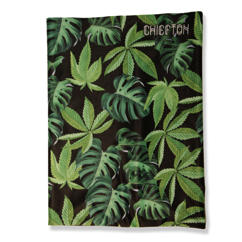 Double Tube- Face Mask- Tropical Leaf