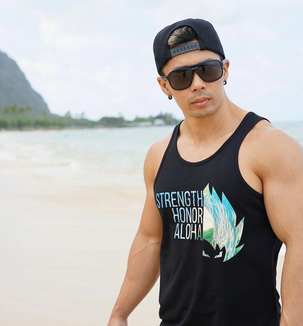 Strength Honor Aloha Tank - Ocean Barrel