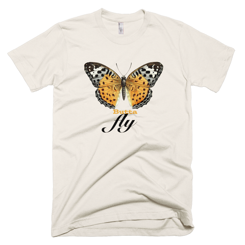 """ButtaFly"" Cream T-Shirt."