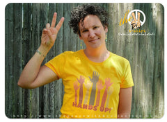 Hands Up PW2 Women's Gold T-Shirt.