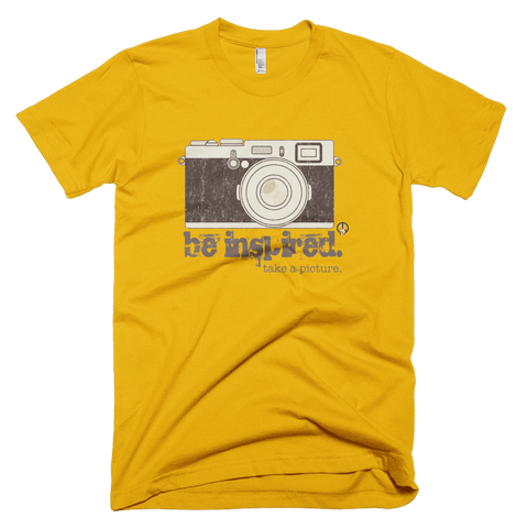 Be Inspired PW2 Gold T-Shirt.