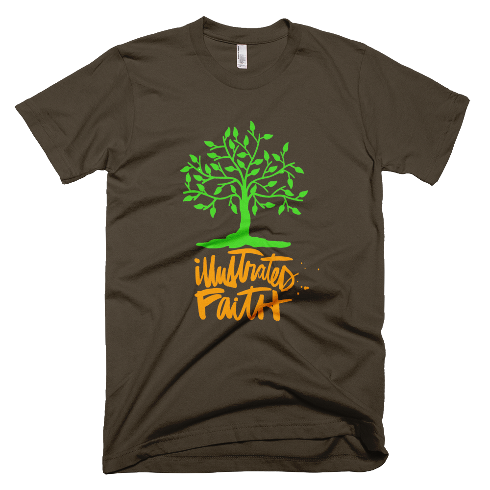 Illustrated Faith Brown T-Shirt.
