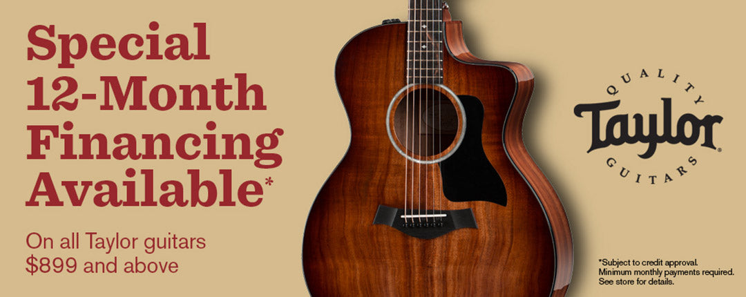 Special 12-month Financing Available Only all Taylor guitars $899 and above Taylor quality Guitars Tone Shop Guitars DFW