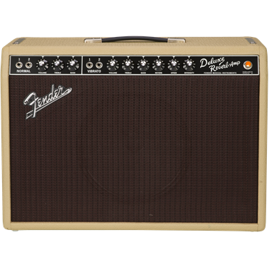Fender Limited Edition '65 Deluxe Reverb Tan/Oxblood Weber Alnico 120V
