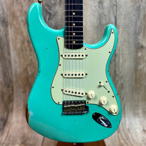 Fender Custom Shop 1960 Relic Strat Roasted Neck RW  Faded Surf Green w/case