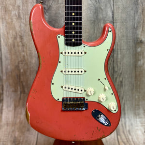 Fender Custom Shop 1960 Relic Strat Roasted Neck RW  Faded Tahitian Coral w/case