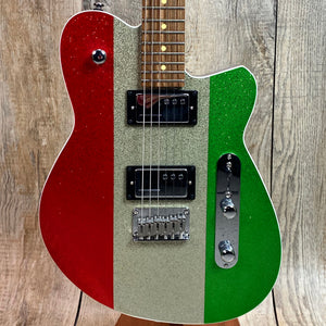 Reverend Charger HC Limited Edition Red/Silver/Green Sparkle