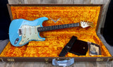 Fender Custom Shop 1960 Relic Strat Roasted Neck RW   Faded Daphne Blue w/case