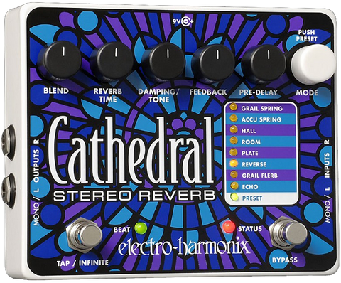 EHX Electro-Harmonix Cathedral Stereo Reverb