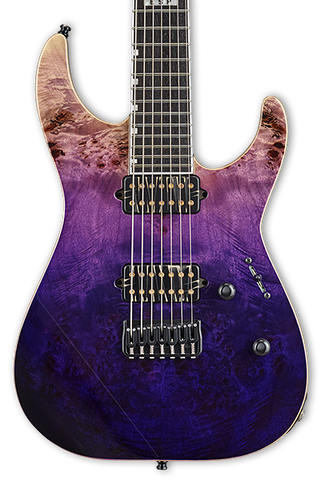ESP E-II M-II 7 NT Purple Natural Fade w/case