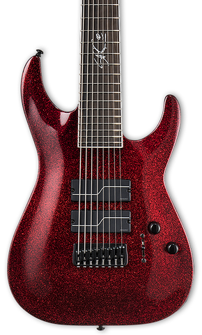 ESP LTD SC-608 Stephen Carpenter Baritone Red Sparkle w/case
