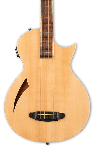ESP LTD TL-4 4-String Acoustic/Electric Bass Natural