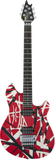 EVH Wolfgang Special Ebony Red w/Black/White Stripes