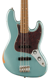 Fender 60th Anniversary Road Worn Jazz Bass Firemist Silver w/case