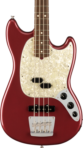 Fender American Performer Mustang Bass RW Aubergine w/case