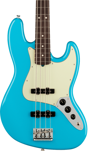 Fender Electric Jazz Bass body in Miami Blue Tone Shop Guitars Dallas Fort Worth