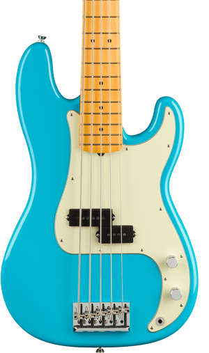 Fender American Professional II Precision Bass V MP Miami Blue w/case