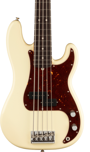 Fender American Professional II Precision Bass V RW Olympic White w/case