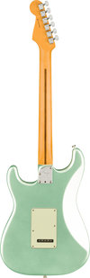Back of Fender Stratocaster electric guitar in Mystic Surf Green Tone Shop Guitars DFW