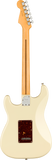 Back of Fender Stratocaster electric guitar in Olympic White Tone Shop Guitars Dallas