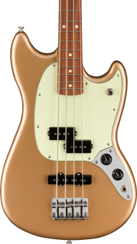Fender Player Mustang Bass PJ Pau Ferro Fingerboard Firemist Gold