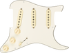 Fender Pre-Wired Strat Pickguard Custom Shop Fat 50's SSS Parchment 11 Hole PG