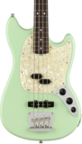 Fender American Performer Mustang Bass RW Satin Surf Green w/bag