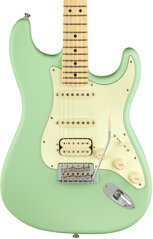 Fender American Performer Stratocaster HSS Satin Surf Green w/bag
