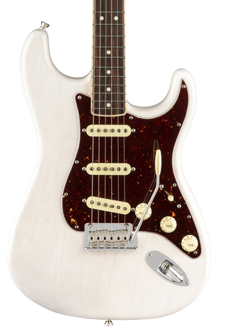 Fender LTD American Pro Strat Channel-Bound Neck RW White Blonde w/case