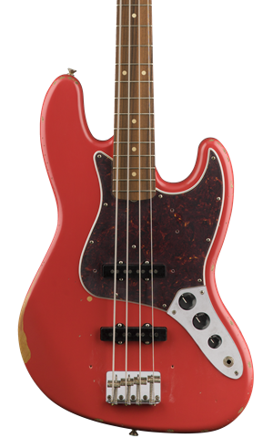Fender Road Worn 60's Jazz Bass PF Fiesta Red w/bag