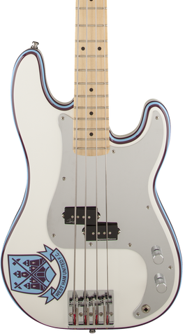 Demo Fender Steve Harris P Bass Maple Oly White  w/bag