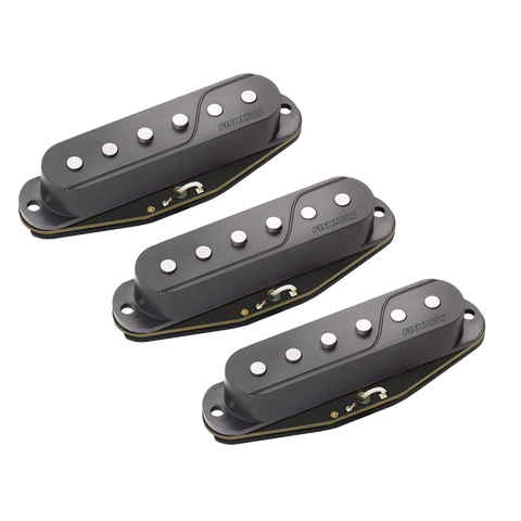 Fishman Fluence Single Width Pickups for Strat Set Black