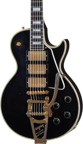 Gibson Custom Shop Murphy Lab 1957 Les Paul Custom Reissue 3-Pickup Bigsby Light Aged Ebony w/case