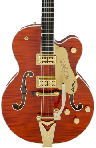 Gretsch G6120TFM Players Edition Nashville w/Bigsby Flame Maple Orange Stain w/case