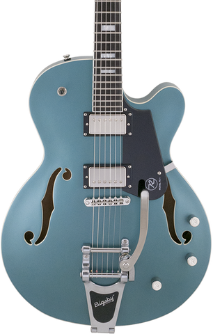 Reverend PA1 HB Pete Anderson Custom Bigsby Satin Deep Sea Blue w/case
