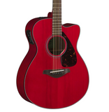 Yamaha FSX800C RR Ruby Red Small Body Acoustic/Electric