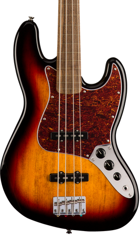 Squier Classic Vibe '60s Jazz Bass Fretless Laurel Fingerboard 3-Color Sunburst