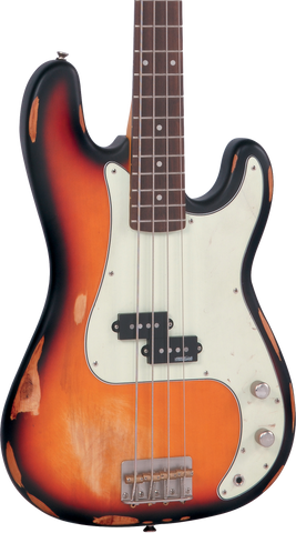 Vintage V4MRSSB Icon Series Bass Distressed Sunset Sunburst
