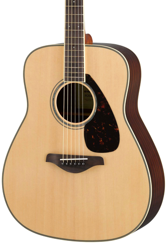 Yamaha FG830 Natural Folk Guitar Solid Top Rosewood Back & Sides