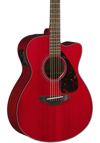 Yamaha FSX800C RR Ruby Red Small Body Acoustic Elec